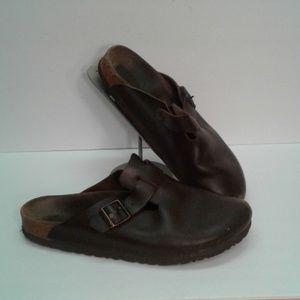 Birkenstock 44 Mules slides 11 brown sandals